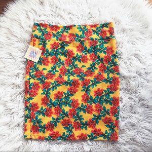 NEW • Lularoe • Cassie Pencil Skirt Floral Yellow